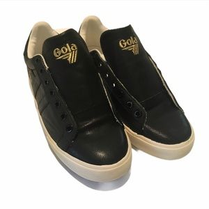 Gola Orchid Black Leather Women's Sneaker  8